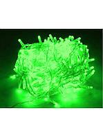 Гирлянда светодиодная на силиконовом проводе 400L зеленый цвет
