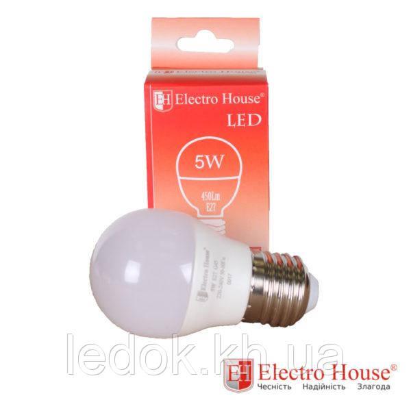 Светодиодная лампа G45 Е27 5Вт 4100K
