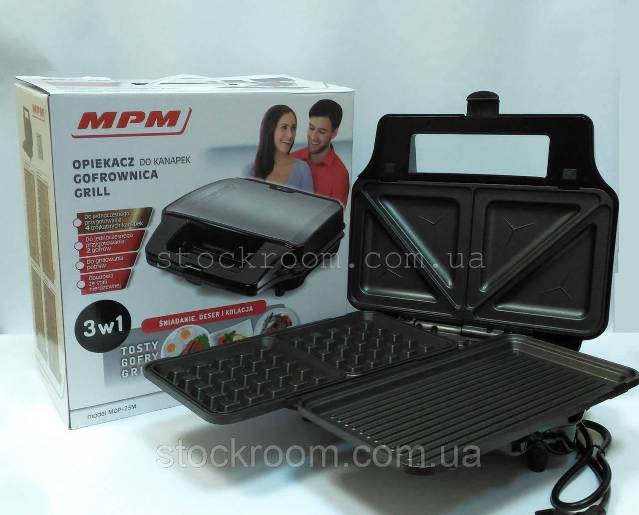 Вафельница 3в1 со сменными пластинами MPM MOP- 23M