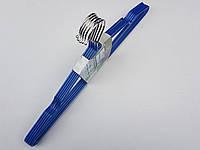 Плечики металлические в силиконовом покрытии синие, 40,5 см, 5 штук в упаковке