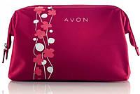 """Косметичка """"Цветочная фантазия"""", Avon, красная, 37467"""