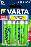 Аккумулятор VARTA RECHARGEABLE ACCU D 3000mAh BLI 2 NI-MH (READY 2 USE)