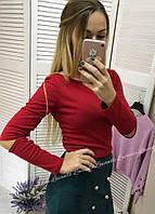 Женская кофта с разрезами на локотках, фото 1
