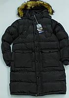 Теплое зимнее пальто  на мальчика  рост 140,164 см