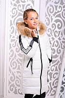 Красивая куртка, пальто зима для девочки 40, 42, 44 размер.Детская верхняя зимняя одежда!