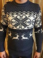 Мужской модный свитер Нарядный свитер-шерсть олень производства Турции