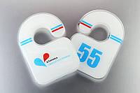 """Номерки с логотипом """"Клиника Святой Екатерины"""""""