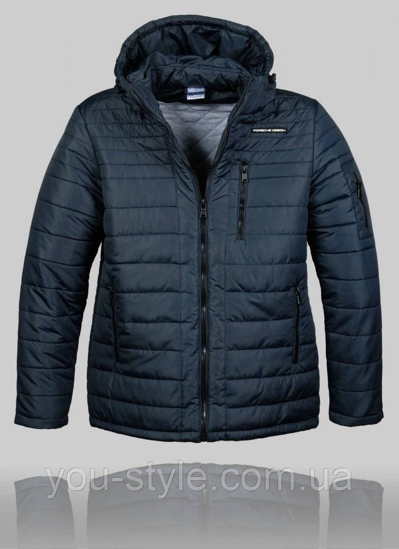 32036055c158 Мужская зимняя куртка Porsche 4456 Тёмно-синяя - Интернет магазин
