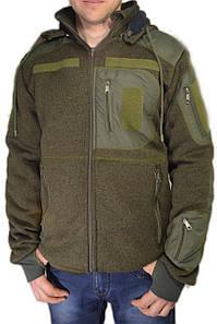 """Флісова тактична куртка """"Маммут-Страйк"""" (щільність 490 гр/м) зі знімним капюшоном"""