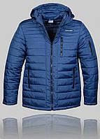 Мужская зимняя куртка Porsche 4457 Синяя