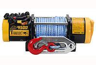 Лебедка электрическая для квадроциклов и ATV T-MAX ATW-4500 RADIO (синтетический трос)
