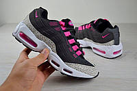 Кроссовки женские  Nike AIR Aimax Найк серо розовые 2404