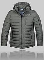 Мужская зимняя куртка Porsche 4458 Серая