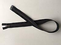 Застежка молния RIRI 6 метал полированная зубья бронза 70 см брелок Flach тесьма черная поликотон разъемная