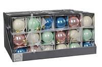 """Елочные шарики """"Christmas House"""", мультицветные, комплект 9 шт"""