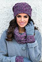 Красивая меланжевая шапка на флисе от Kamea - LIDIA