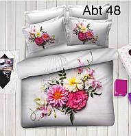 """Комплект постельного белья ALTINBASAK Сатин 3D """"abt 48"""" Евро"""