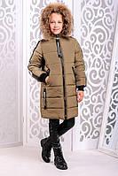 Красивая куртка, пальто зима для девочки 32, 34, 36, 38, 40, 42, 44 размер.Детская верхняя зимняя одежда!