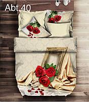"""Комплект постельного белья ALTINBASAK Сатин 3D """"abt 40"""" Евро"""