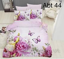 """Комплект постельного белья ALTINBASAK Сатин 3D """"abt 44!"""" Евро"""