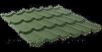 Композитная металлочерепица в Херсоне. Цвет Зеленый.  Металлочерепица QueenTile 3-тайл
