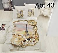 """Комплект постельного белья ALTINBASAK Сатин 3D """"abt 43"""" Евро"""