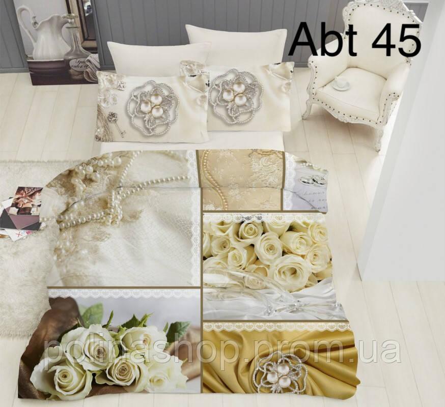 """Комплект постельного белья ALTINBASAK Сатин 3D """"abt 45!"""" Евро"""