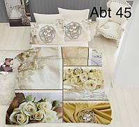 """Комплект постельного белья ALTINBASAK Сатин 3D """"abt 45!"""" Евро, фото 1"""