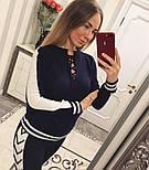 Женский модный вязаный костюм со шнуровкой: свитер и штаны (4 цвета), фото 2
