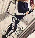 Женский модный вязаный костюм со шнуровкой: свитер и штаны (4 цвета), фото 3