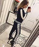 Женский модный вязаный костюм со шнуровкой: свитер и штаны (4 цвета), фото 5