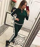 Женский модный вязаный костюм со шнуровкой: свитер и штаны (4 цвета), фото 6