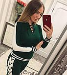 Женский модный вязаный костюм со шнуровкой: свитер и штаны (4 цвета), фото 7
