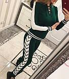 Женский модный вязаный костюм со шнуровкой: свитер и штаны (4 цвета), фото 8