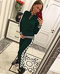 Женский модный вязаный костюм со шнуровкой: свитер и штаны (4 цвета), фото 9