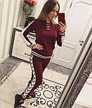 Женский модный вязаный костюм со шнуровкой: свитер и штаны (4 цвета), фото 10