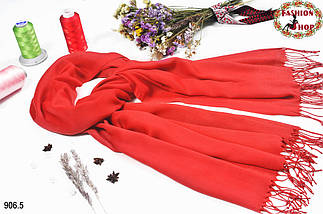 Женский лососевый шарф из пашмины, фото 2