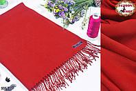 Стильный красный шарф из пашмины