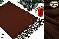 Женский коричневый шарф из пашмины