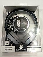 Наушники с микрофоном MS-TV1A серые