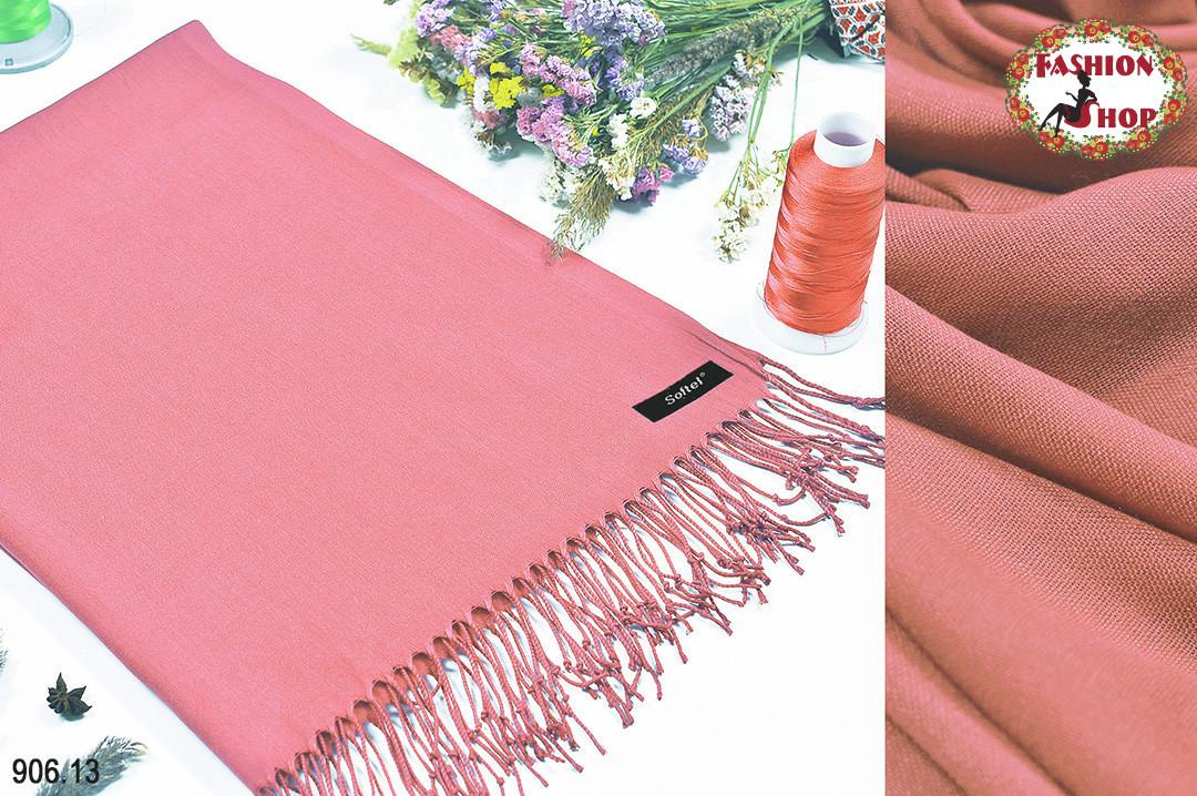 Розовый стильный шарф из пашмины