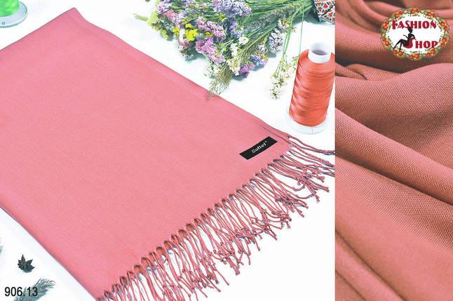Розовый стильный шарф из пашмины, фото 2