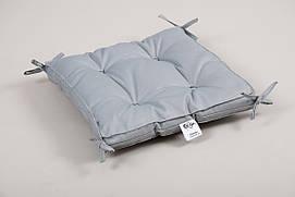 Подушка на стул Lotus 40*40*5 - Optima с завязками серая