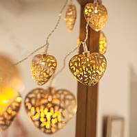 Электрическая светодиодная гирлянда «Сердце» на 20 светодиодов