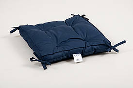 Подушка на стул Lotus 40*40*5 - Optima с завязками синий