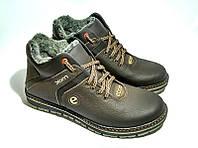 Мужские зимние кожаные ботинки Ecco