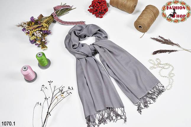 Жаккардовый серый шарф, фото 2