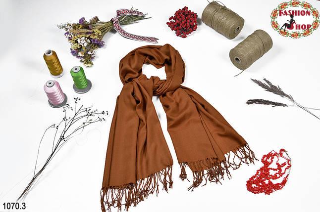 Коричневый мужской стильный шарф из жаккарда, фото 2