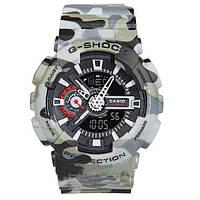 Часы мужские Casio G-Shock GA 110 серый камуфляж