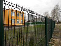 Заборные секции из сварной сетки с изгибом Эко стандарт 1,26 м с полимерным покрытием